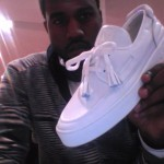 Kanye West shows his Louis Vuitton Sneaker