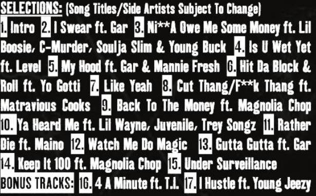 bg track list