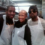 Kanye West & Amber Rose Cook & Serve To The Homeless