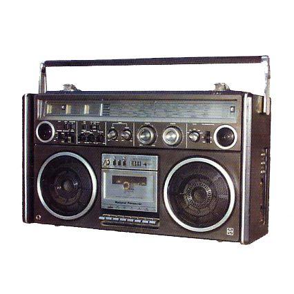 old radio boombox