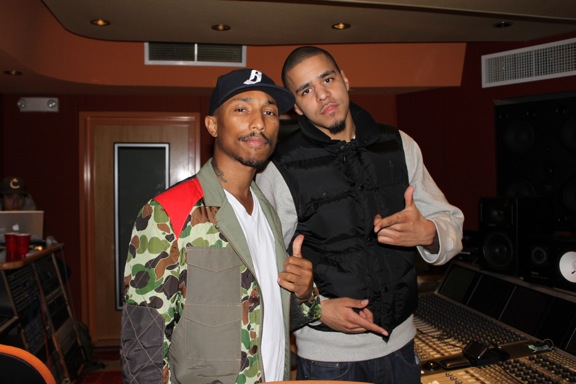 J Cole And His Father In The Studio: Pharrel...