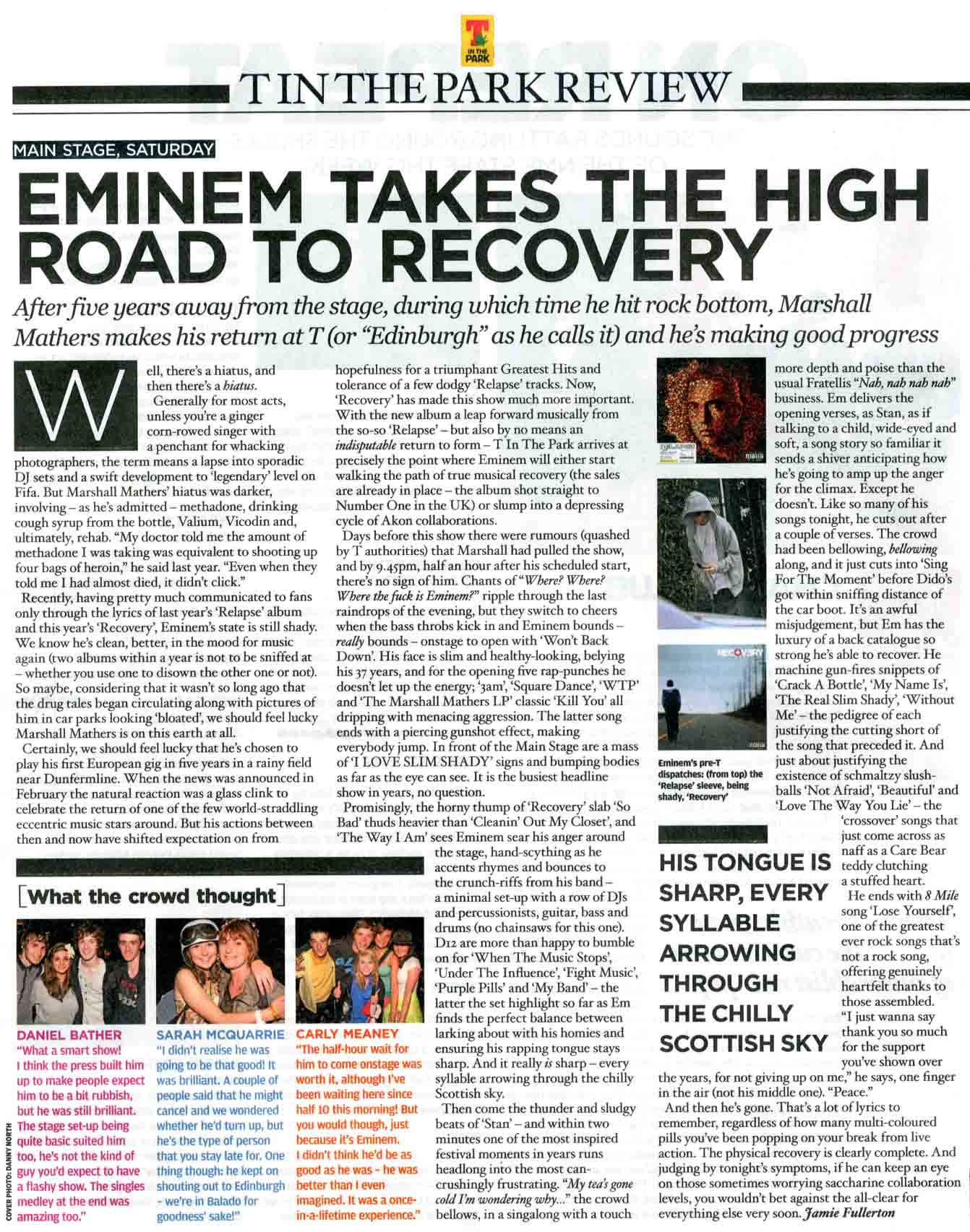 eminem covers nme magazine hiphopnmore