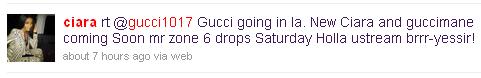 gucci ciara tweet