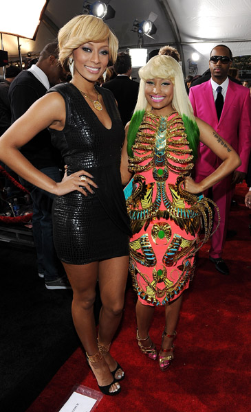 Nicki Minaj wearing her The Epitome Of Pink Friday dress at the American