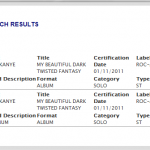 Kanye's 'My Beautiful Dark Twisted Fantasy' Certified Platinum