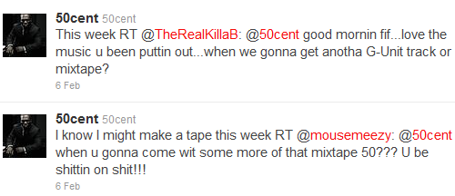 50 cent new mixtape tweet