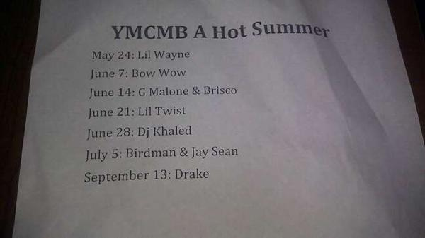 YMCMB tentative release dates