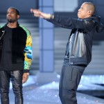 Jay-Z & Kanye West Shooting Video For 'N***as In Paris'