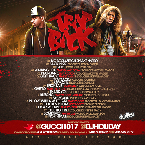 trap back track list