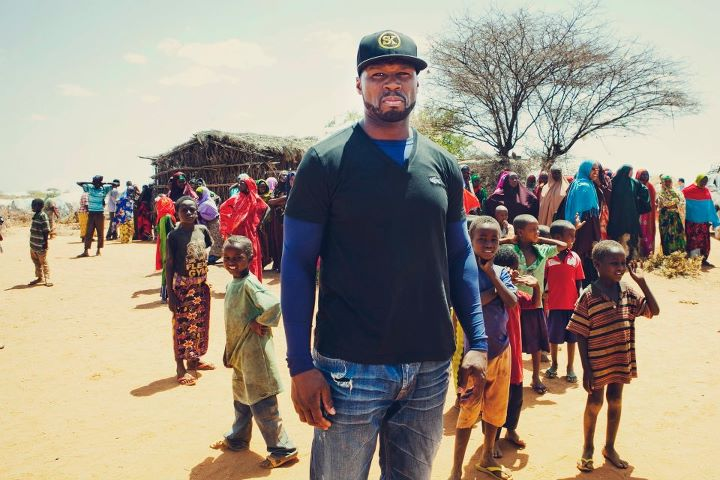 50 cent in somalia 50 Cent Visits Somalia & Kenya To Donate Meals (Pics)