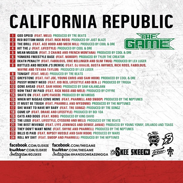 game california republic back