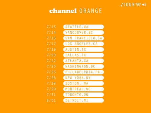 frank ocean channel orange tour