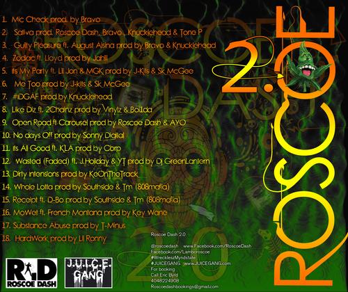 roscoe dash 2.0 back