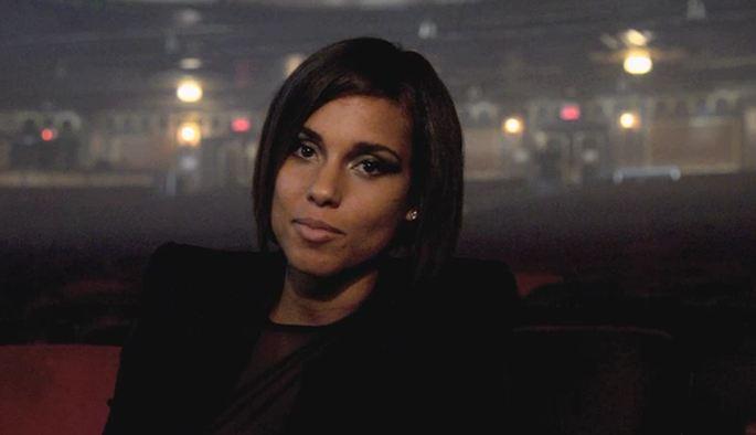 Alicia Keys Talks 'Girl On Fire' On Sets Of Citibank Ad Shoot .