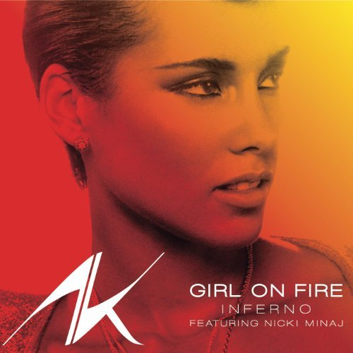 alicia keys girl on fire inferno artwork