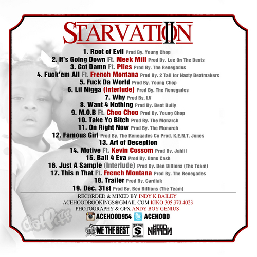 ace hood starvation 2 track list