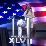 Beyonce Sings National Anthem At Super Bowl Press Conference