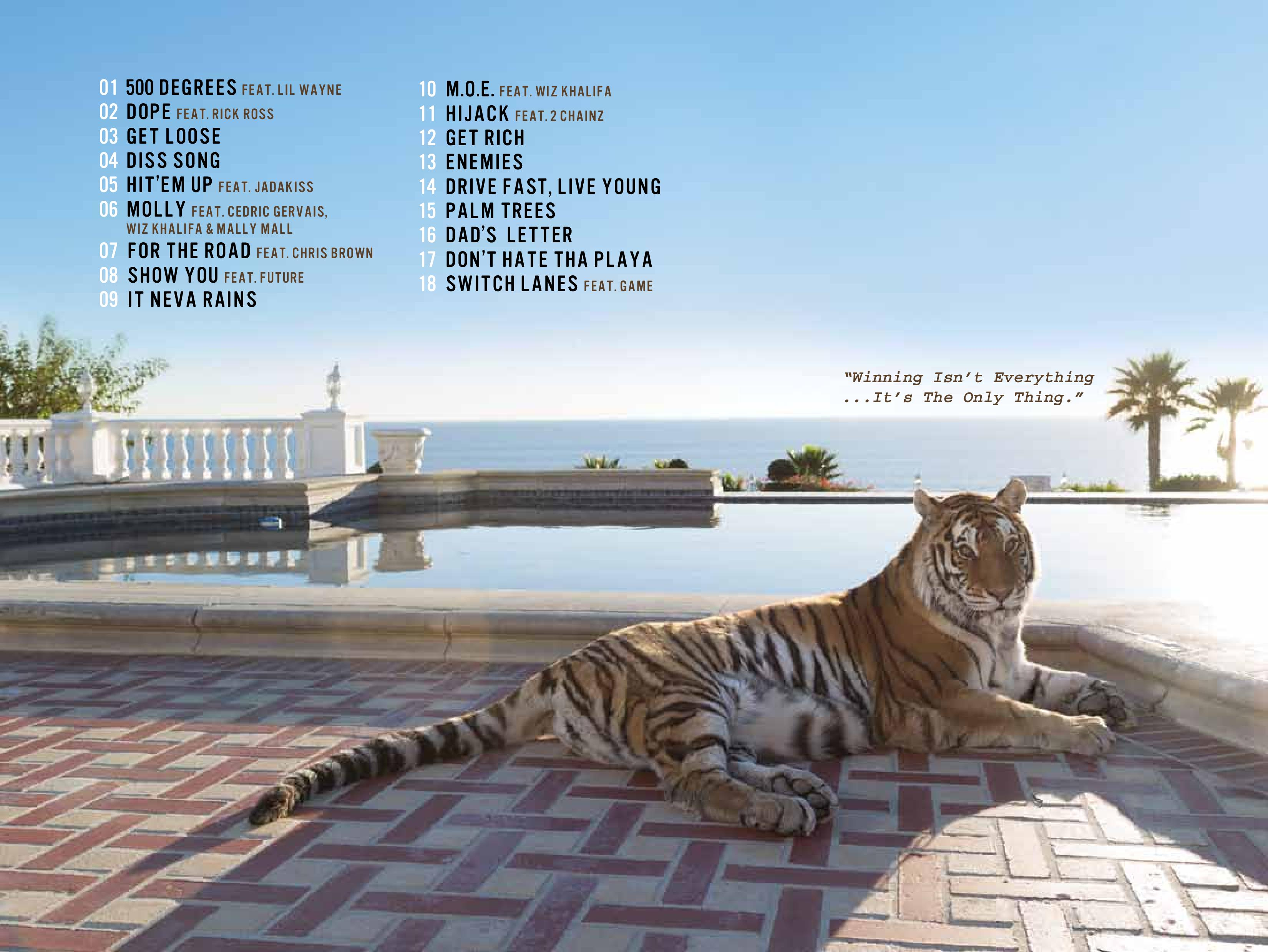 Tyga hotel california booklet production credits for Hotel california