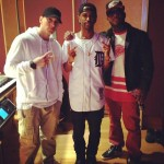 Eminem, Big Sean and Royce Da 5'9″ In The Studio