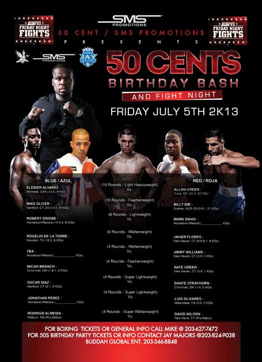 50 cent boxing card