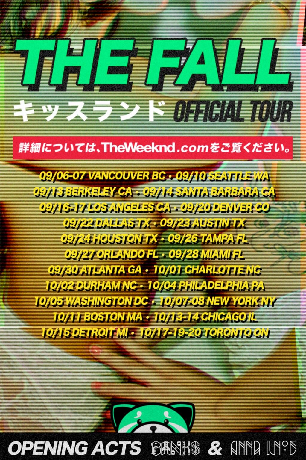 the weeknd announces big fall tour following the release
