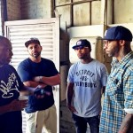 Slaughterhouse Prepares For Cypher At 2013 BET Hip Hop Awards (Photo)