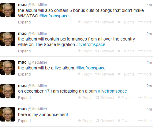 Mac Miller Live From Space Album Cover Track List