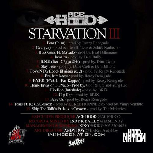 ace hood starvation track list