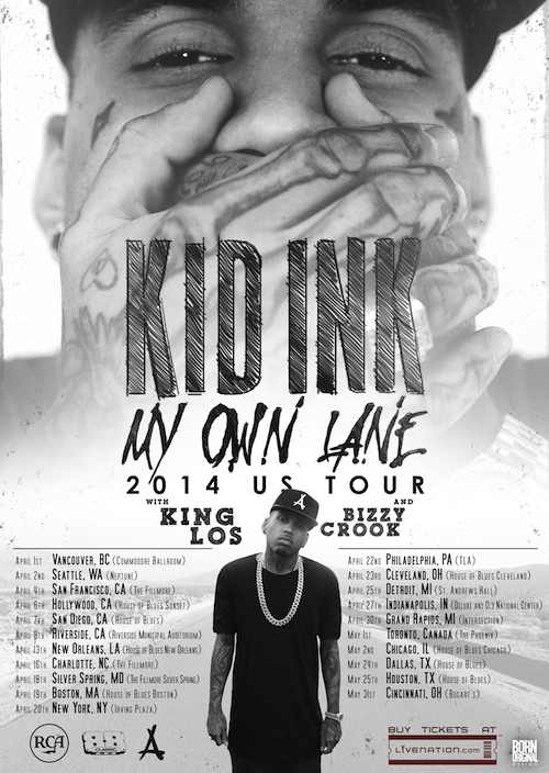 kid ink-my own lane-us tour