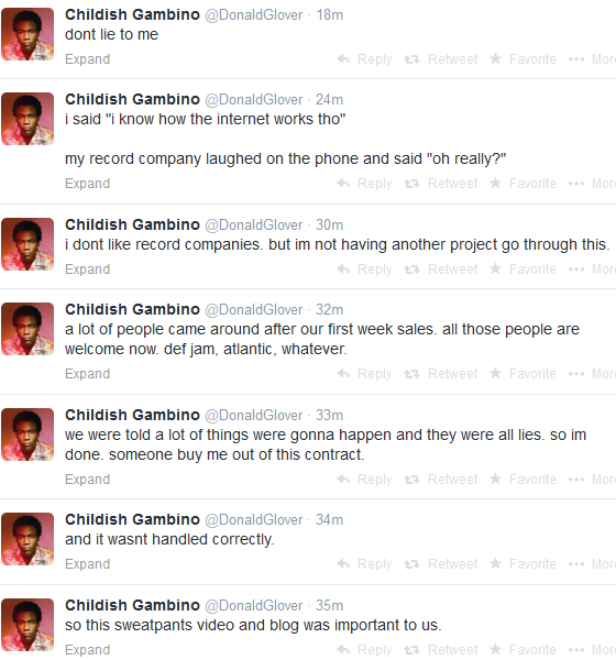 childish gambino tweets