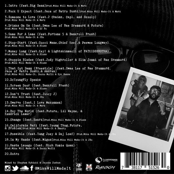 Mike Will Made It Ransom Mixtape Artwork Tracklist on justin timberlake when he was young