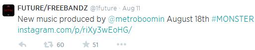 future monster tweet