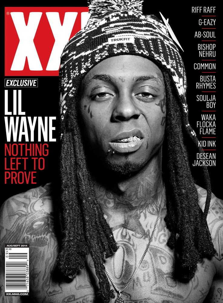 lil wayne covers xxl august september 2014 hiphop n more. Black Bedroom Furniture Sets. Home Design Ideas
