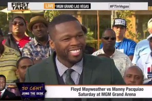 50 Cent Talks Mayweather Vs. Pacquiao Fight On ESPN's First Take