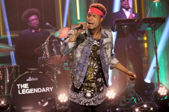 THE TONIGHT SHOW STARRING JIMMY FALLON -- Episode 0256 -- Pictured: Musical guest Fetty Wap performs with The Roots on May 5, 2015 -- (Photo by: Douglas Gorenstein/NBC)