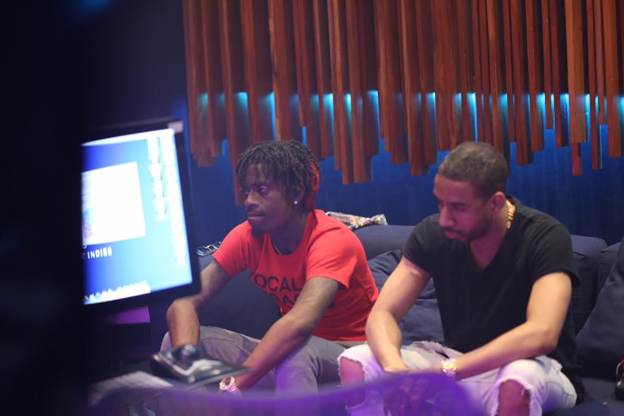 Rich Homie Quan & Ryan Leslie In Studio