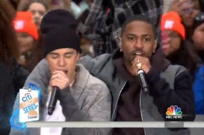 justin bieber big sean perform no pressure on the today show