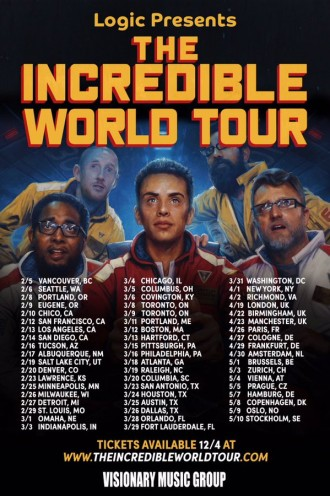 logic announces the incredible world tour