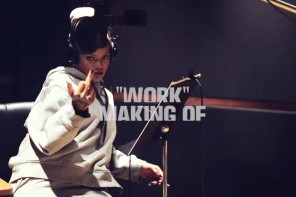 In The Studio: Rihanna Records 'Work' (Behind The Scenes)