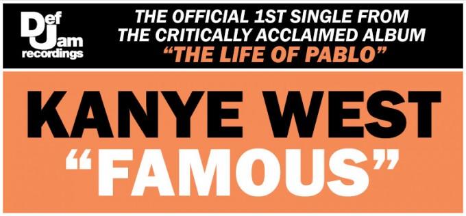 kanye famous single