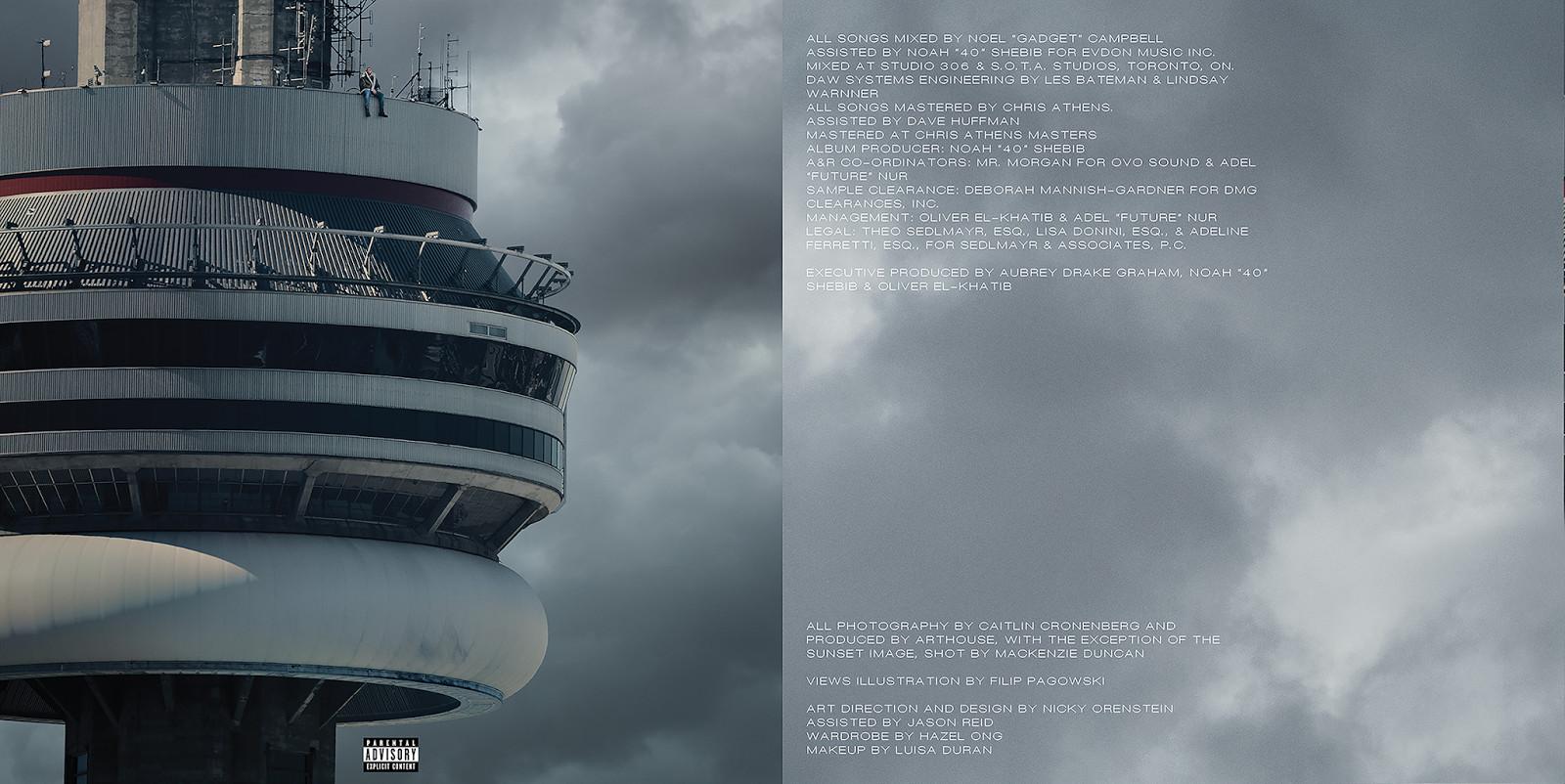 Drake 39 views 39 booklet full production credits - Drake views wallpaper ...