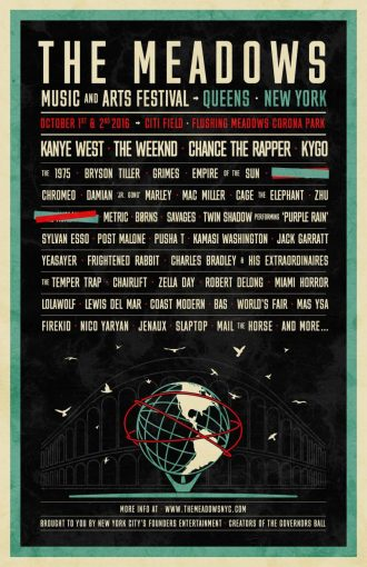 kanye west the weeknd chance the meadows fest