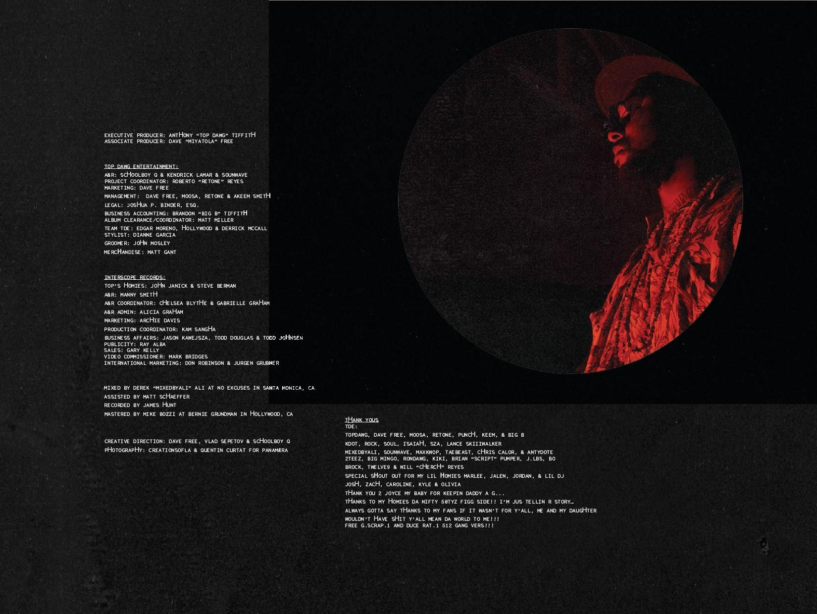 Schoolboy Q Blank Face Lp Booklet Amp Full Production