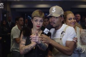 Beyonce Crashes Chance The Rapper Backstage Interview at 2016 MTV VMAs