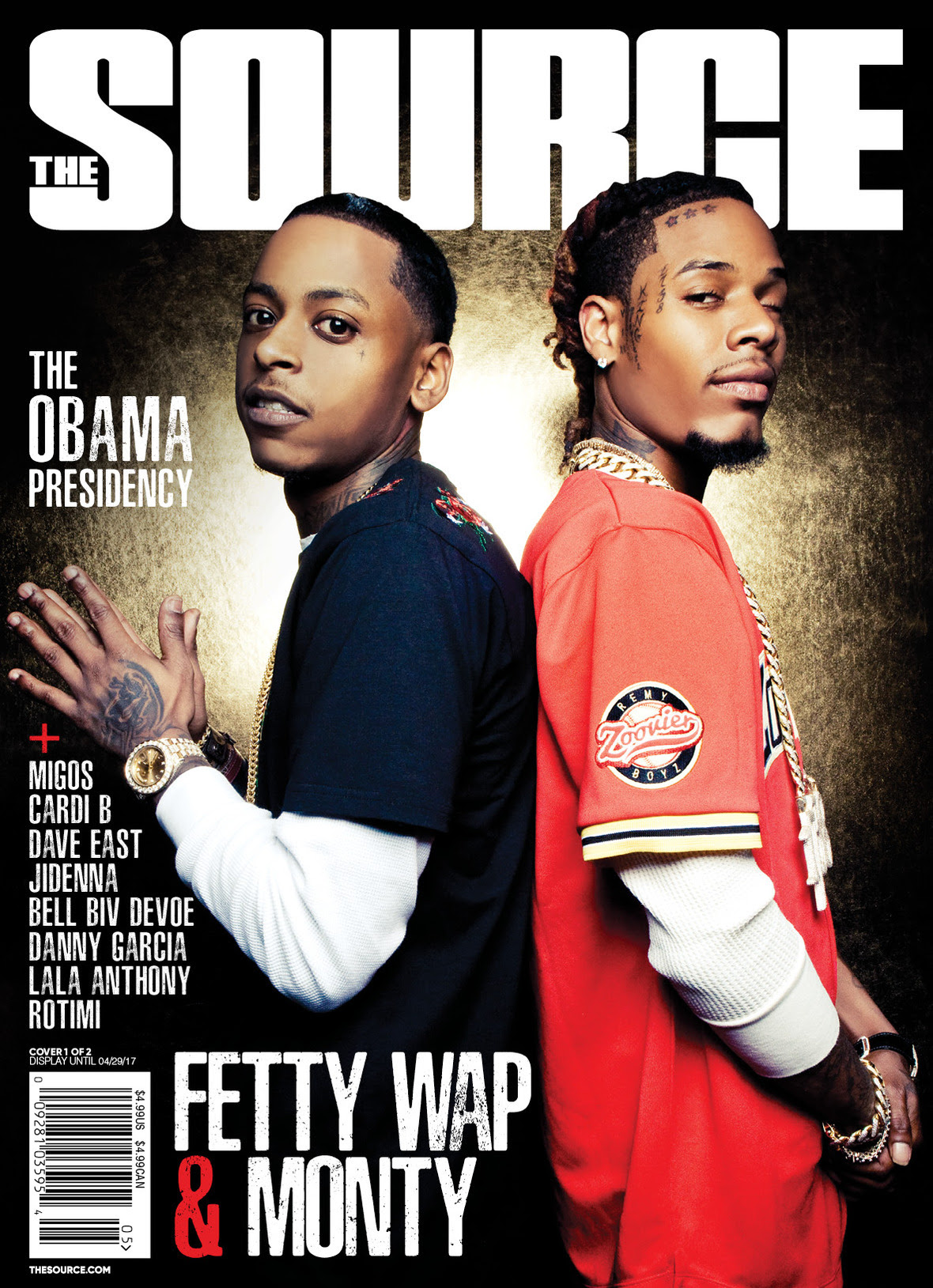 Fetty Wap & Monty Cover The Source | HipHop-N-More