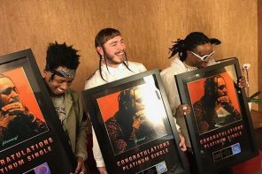Post Malone's 'Congratulations' Goes Platinum; Shares Artwork for New Project 'Beerbongs & Bentleys'
