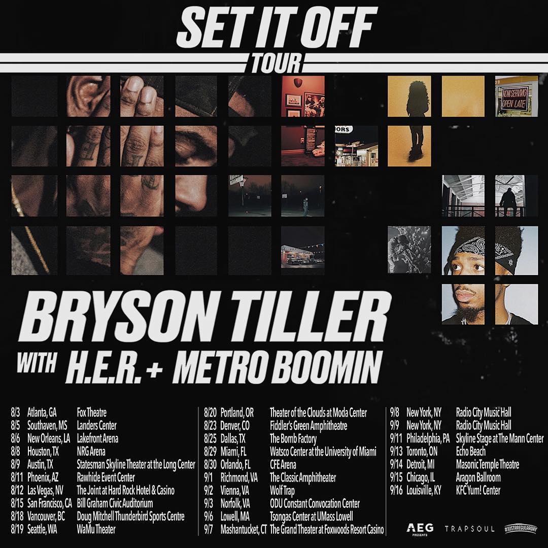 Bryson Tiller Tour Dates
