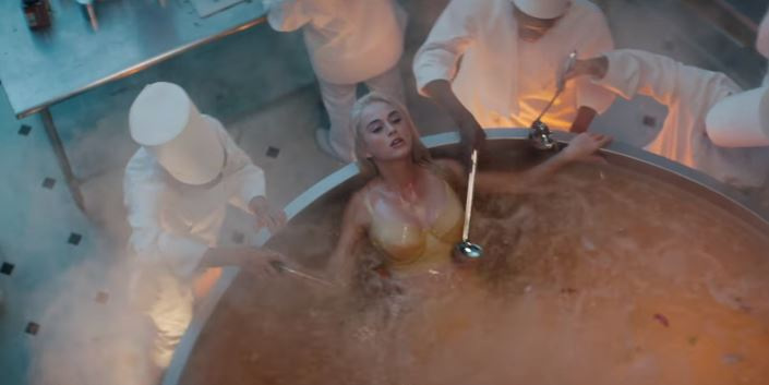Watch Katy Perry Get Served in 'Bon Appétit'