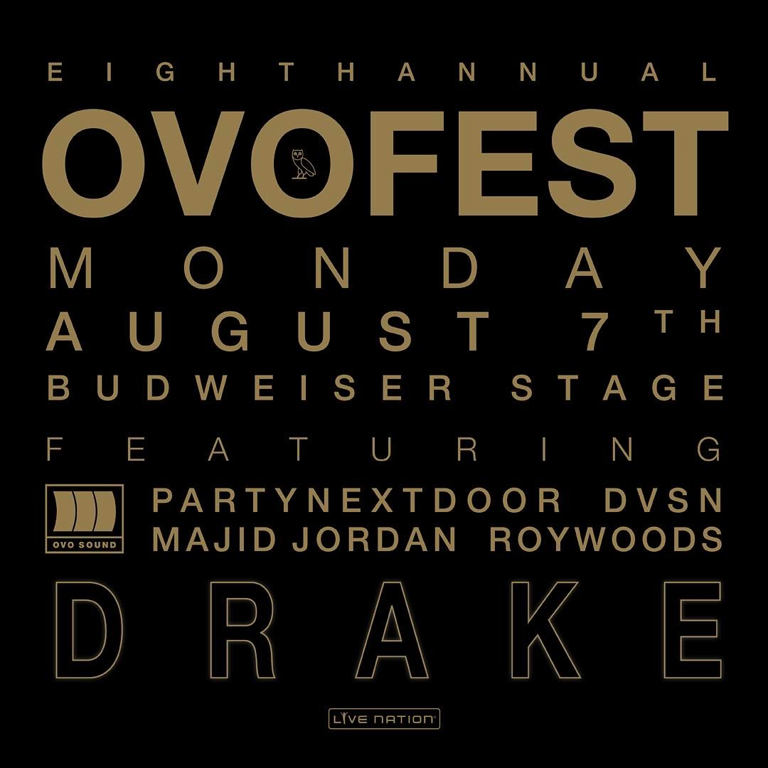 Drake announces line up for eighth annual OVO Fest