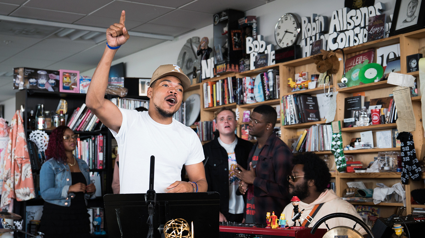 Chance The Rapper Covers Stevie Wonder For NPR's Tiny Desk Concert Series